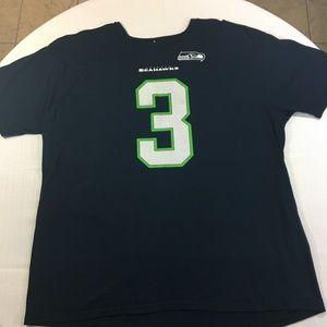 Russell Wilson Seattle Seahawks T-Shirt Jersey 2X